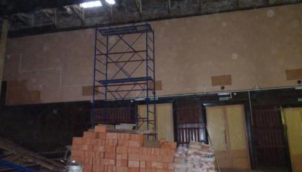 Начался ремонт Кулотинского Дома культуры