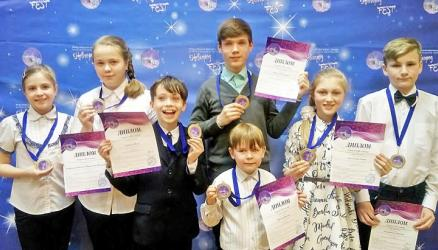 На масштабных и многожанровых конкурсах юные окуловские музыканты и хореографы в очередной раз завоевали целый букет наград